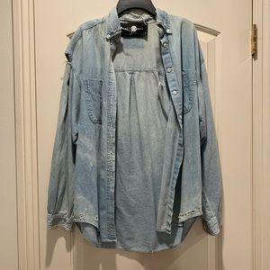 Brand New Nasty Gal denim blue washed jacket
